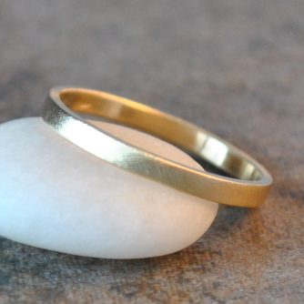Caitlin Yellow Gold Band 1