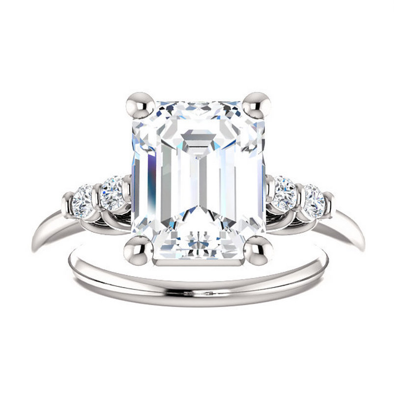 3 5 carat Emerald Cut Moissanite Engagement Ring Dallas