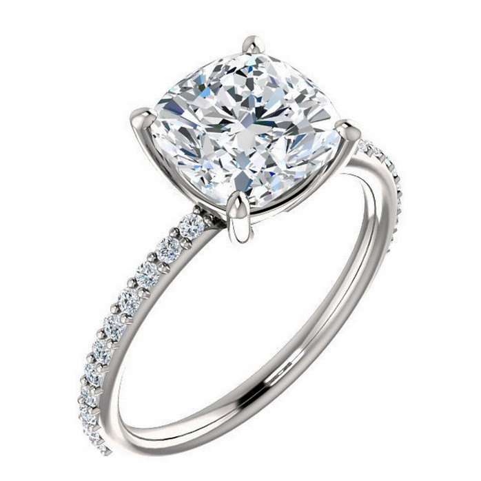 2 5 carat Forever Brilliant moissanite engagement ring