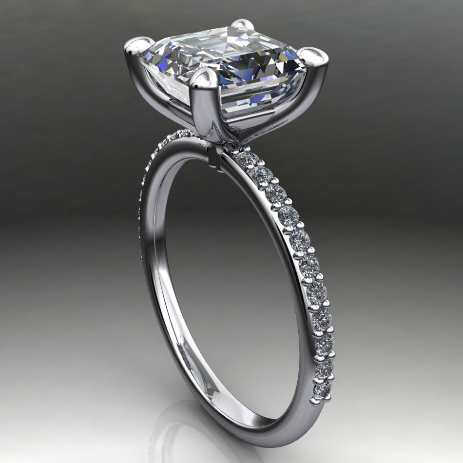 shay ring - 2 carat asscher cut forever one moissanite ...