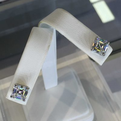 F1 Asscher Cut Earrings