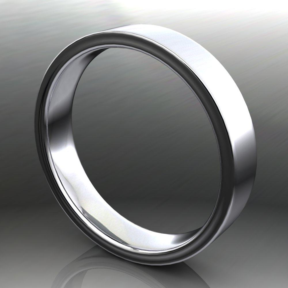 4x1 5mm Archer Ring White Gold Turn