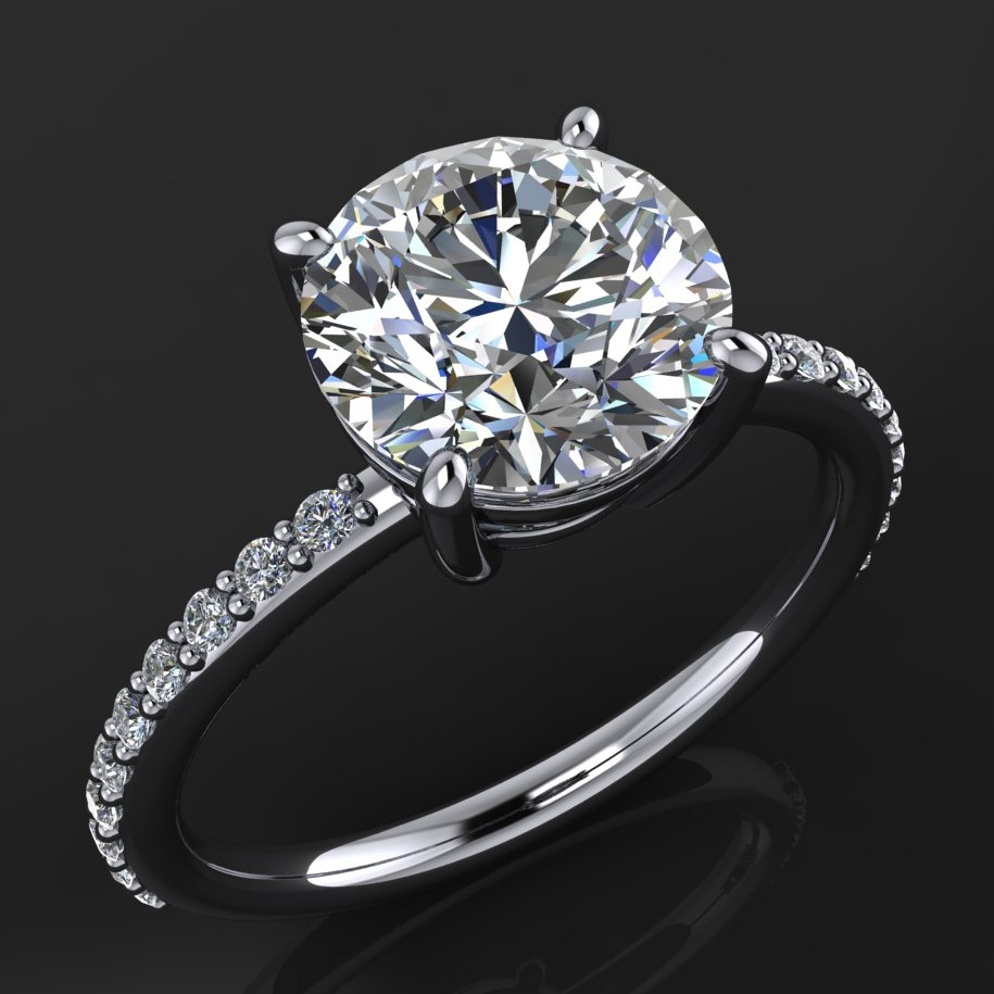 Eliza Ring 2 Carat Round Forever One Moissanite