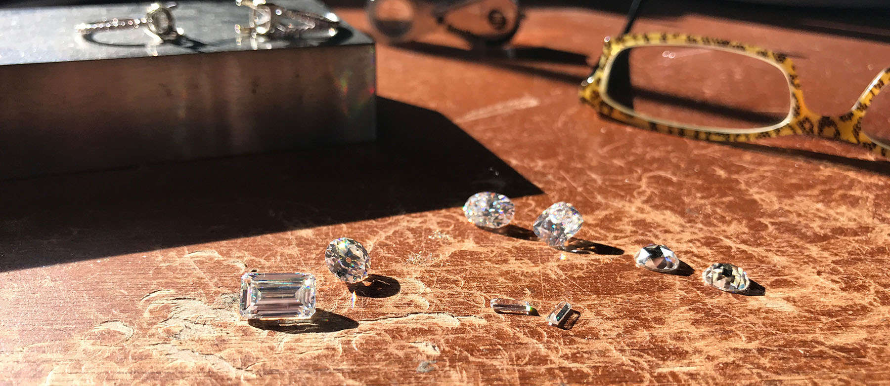 Jeweler's Bench - ZAYA moissanite jewels jewelry jeweler