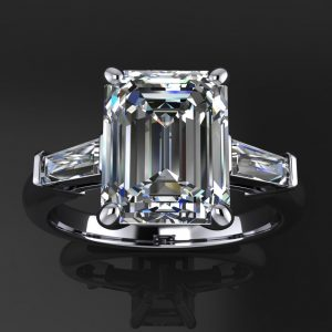 laurel ring – 2.4 carat emerald cut NEO moissanite engagement ring