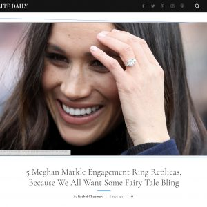 Elite Daily – 5 Meghan Markle Engagement Ring Replicas, Because We All Want Some Fairy Tale Bling
