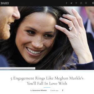 Elite Daily – 5 Engagement Rings Like Meghan Markles You'll Fall In Love With